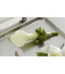 Photo of The FTD White Calla Boutonniere - W7-4625