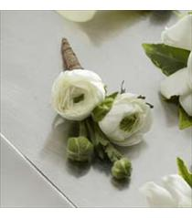 Photo of The FTD White Ranunculus Boutonniere - D12-4626