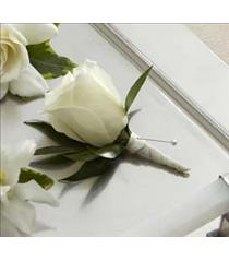 Photo of The FTD White Rose Boutonniere - W7-4629