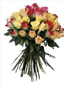 Photo of Bouquet of Mixed Colored Roses - IC-3212