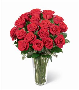 Photo of Long Stem Roses in Vase 12, 18 or 24  - N6-4305