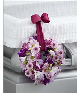 Photo of The FTD Thoughts & Prayers Wreath Adornment - S35-4518