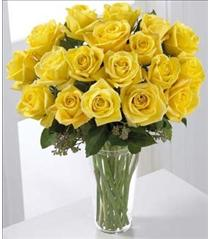 Photo of Yellow Roses 12, 18, 24 or 36 Vased  - S38-4307