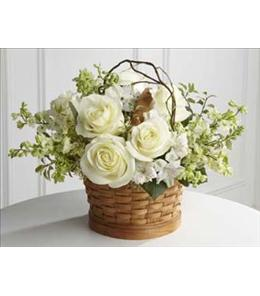 Photo of White Flowers Peaceful Garden Basket - S9-4456