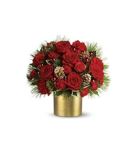 Photo of BF6046/T115-1DX (5 roses, 4 carnations, and spray roses)