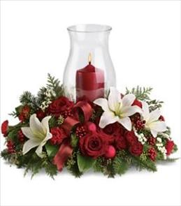Photo of Holiday Glow Centerpiece Teleflora T115-3 - T115-3