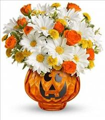 Photo of Teleflora's Glass-O'-Lantern Bouquet - T11H200