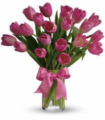 Photo of Precious Pink Tulips Vased - T11Z106