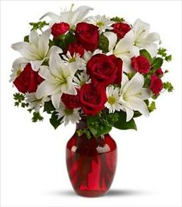 Photo of Be My Love with Red Roses Vased  - T128-2