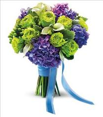 Photo of Luxe Lavender and Green Bouquet - T182-2