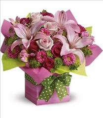 Photo of Pretty Pink Present by Teleflora - T19-1