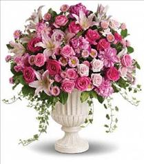 Photo of Passionate Pink Garden Arrangement - T192-1