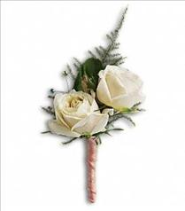 Photo of White Tie Boutonniere - T203-5