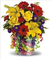 Photo of Teleflora's Birthday Ribbon Bouquet - T22-3