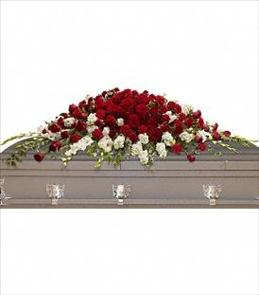 Photo of Garden of Grandeur Casket Spray - T226-3