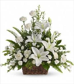 Photo of Peaceful Floral Basket - T228-1