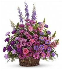 Photo of Gracious Lavender Basket - T235-1
