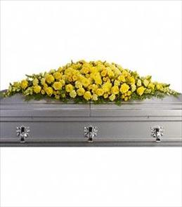 Photo of Golden Garden Casket Spray - T243-1