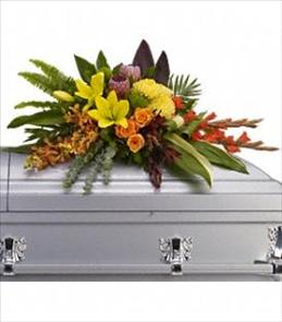 Photo of Island Memories Casket Spray - T244-3