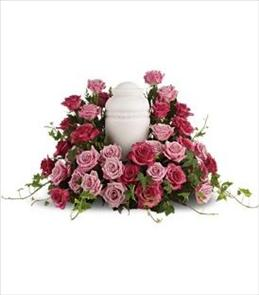 Photo of Bed of Roses for Urn - T253-2