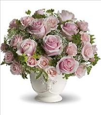 Photo of Pink Roses Centerpiece - T67-3