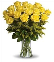 Photo of Rosy Glow Yellow Roses Vased - T70-1