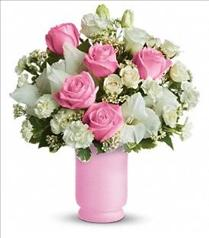 Photo of Teleflora's Pink and White Delight - TEV08-1