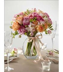 Photo of The FTD Peach Silk Arrangement - W27-4692