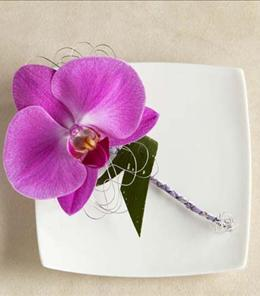 Photo of The FTD Glorious Orchid Boutonniere - W39-4720