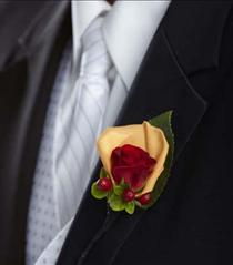 Photo of The FTD Breathless Boutonniere - W43-4727