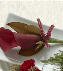 Photo of The FTD Red Calla Boutonniere - W54-4748