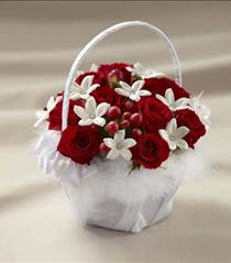 Photo of The FTD Baby Love Flower Girl Basket - W55-4747