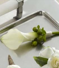 Photo of The FTD White Calla Boutonniere - W7-4625