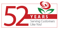 Brant Florist 52 Years in Business Logo