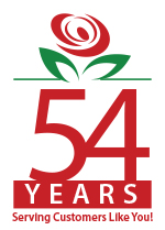 Brant Florist 54 Years in Business Logo