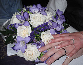 Photo of a Wedding Bouquet