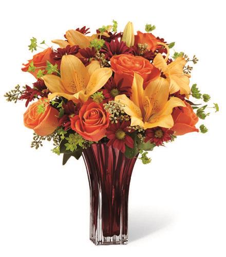 Many thanks may be in clear glass vase thanksgiving ftd