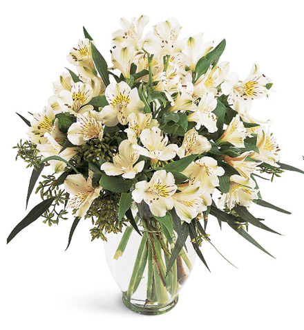 Elegant Alstroemeria Vase Color Choice Centerpiece