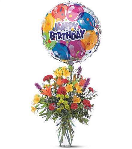 Birthday Flowers And Balloon Bouquet Birthday Catalog