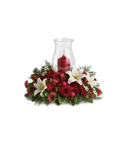 Holiday glow centerpiece teleflora t