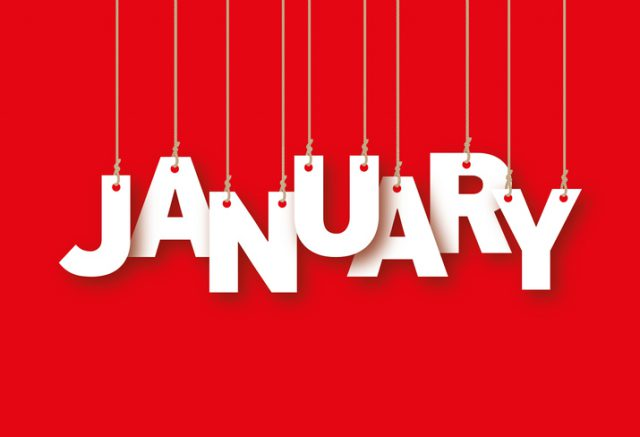 January Favourites - January word hanging on the ropes