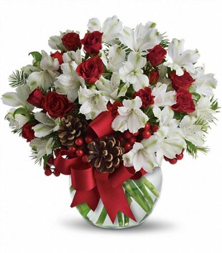 Christmas Flower Arrangements: Let It Snow