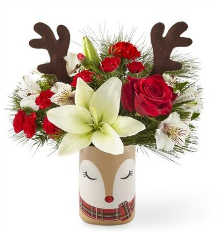 Christmas Flower Arrangements: Shine Bright Bouquet