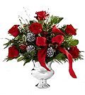 Photo of a Christmas Floral Arrangement