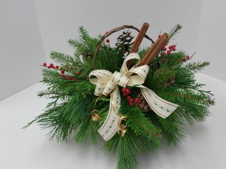 Photo of flowers: Cinnamon. Greenery and Bow