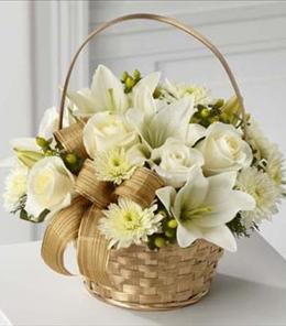 Photo of White Wishes Bouquet - B17-4362