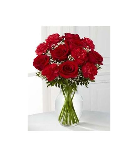 Photo of BF7160/B20-4798d (6 roses and 6 carnations)
