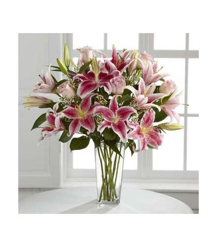 Photo of flowers: Pink Stargazer Lily Vased