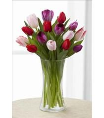 Photo of Tender Tulips in Vase Bouquet FTD - B29-4838