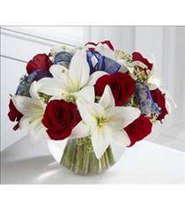 Photo of The FTD Red White and Blue Bouquet - B30-4341
